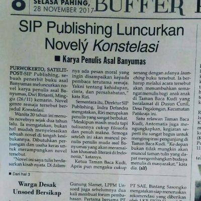 Liputan Surat Kabar Acara Launching Novel Konstelasi dari SIP Publishing
