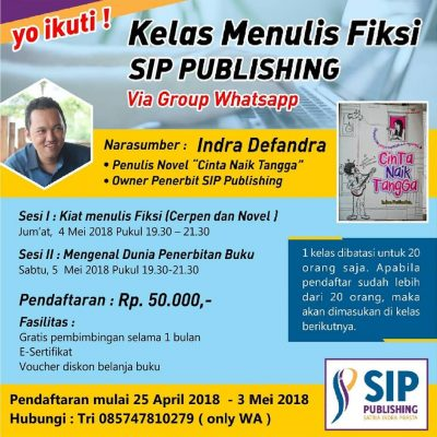 Kelas Online Menulis Fiksi SIP Publishing
