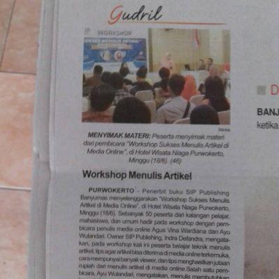 Liputan Workhop Menulis Artikel Online di Harian Suara Merdeka