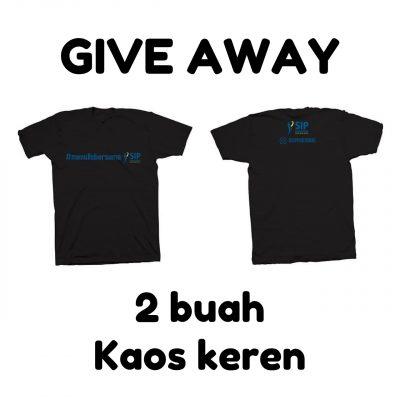 Give Away 2 Buah Kaos Keren