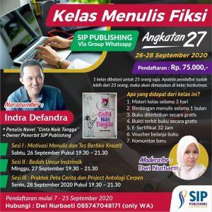 Kelas Menulis Fiksi Online Angkatan 27 SIP Publishing