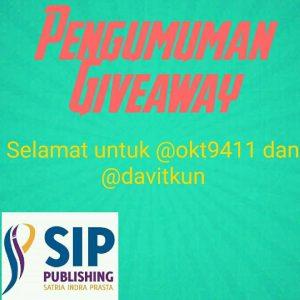 Pengumuman Pemenang Give Away 2 Buah Kaos SIP Publishing