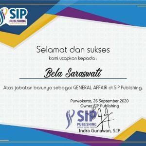Bela Saraswati, General Affair SIP Publishing