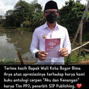 Apresiasi dari Bapak Wali Kota Bogor Bima Arya Untuk Buku Terbitan SIP