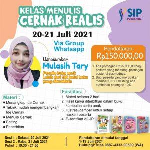 Kelas Menulis Bersama Kak Tary di Bulan Juli 2021